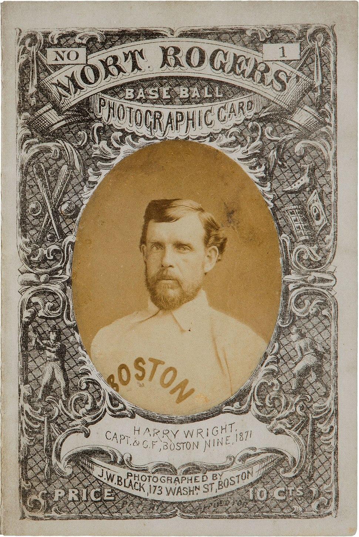 1872 Harry Wright card