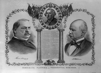 1892 Democratic National Convention - Cleveland/Stevenson campaign poster