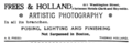 1895 Frees and Holland photographers advert 611 Washington Street in Boston.png