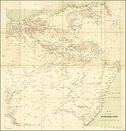 1906 Map of a portion of Somaliland by the Ordnance Survey Office.jpg