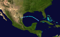 1909 Atlantic tropical storm 7 track.png
