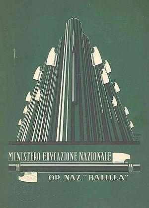 Opera Nazionale Balilla - Image: 1932 pagella balilla copertina