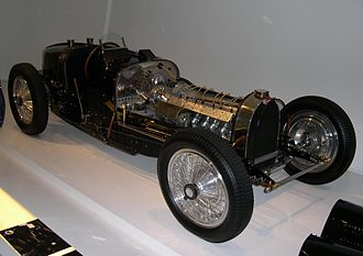 1935 Grand Prix season - Bugatti entered their year old Type 59 model, seen here without its engine cover.