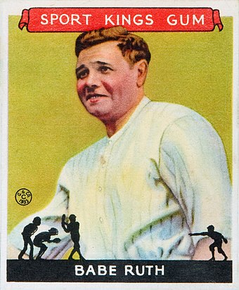 1933 Goudey Sport Kings baseball card 1933 Goudey Sport Kings 02 Babe Ruth.jpg