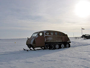 Snow coach - Early style 12 passenger snow coach made by Bombardier of Canada.
