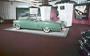 General Motors Motorama - 1953 Oldsmobile Starfire show car at the Motorama auto show, Waldorf Astoria-1953