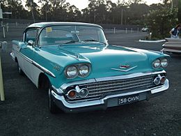 1958 Chevrolet Bel Air hardtop sedan (14986636993).jpg