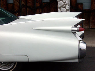 Cadillac - The iconic large tail fins of the 1959 Cadillac
