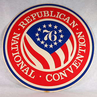 1976 Republican National Convention - Oversized circular logo mounted on foam used for the 1976 Republican National Convention.