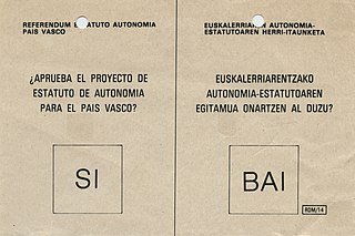 1979 Basque Statute of Autonomy referendum