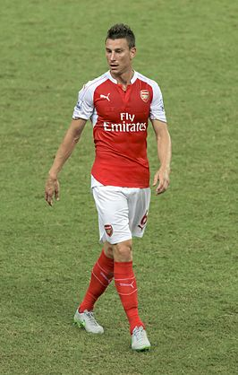 Koscielny in actie namens Arsenal in 2015