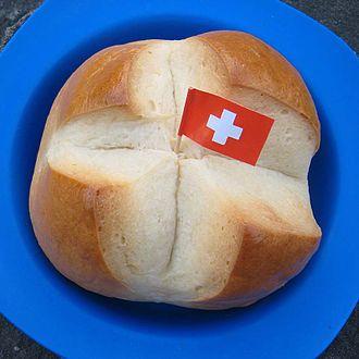 Swiss National Day - Image: 1augustweggen