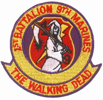 1st Battalion, 9th Marines - Vietnam-era battalion insignia