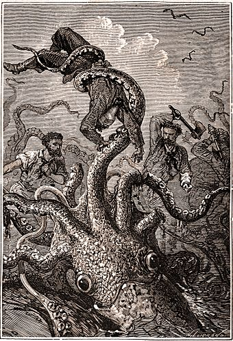 """GIANT SQUID from """"20,000 Leagues Under the Sea"""""""