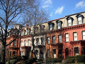 Dupont Circle - Homes located on the 2000 block of N Street, NW, are considered some of the city's finest examples of Second Empire architecture.