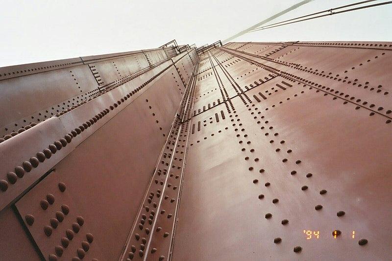 File:2003 Bike path on Golden Gate Bridge presents an opportunity to appreciate the architectural wonder. (10221498885).jpg