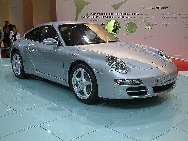 File:2004 silver Porsche 911 Carrera type 997.jpg