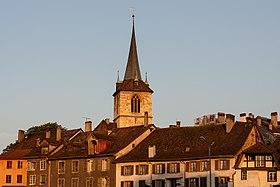 Panorama von Biel/Bienne,aufgenommen aus westlicher Richtung