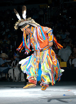 Grass dance - Grass dancer at the 2005 National Pow Wow.