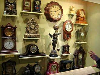 American Clock & Watch Museum - General display of various styles of American-made clocks by various manufacturers.