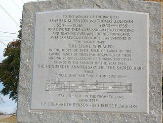 Seaborn McDaniel Denson - Monument in Double Springs, AL