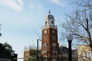 Decatur County Courthouse (Bainbridge, Georgia) - The courthouse clock tower.
