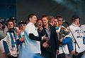 2011 IIHF World Championship gold medal celebrations in Helsinki – Jukka Jalonen.jpg