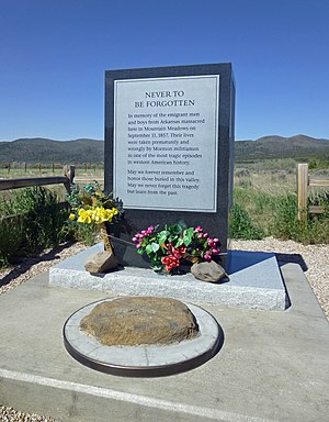 Remembrances of the Mountain Meadows massacre - The 2011 Men and Boys Monument