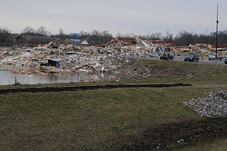 2012 Leap Day tornado outbreak - EF4 damage to a strip mall in Harrisburg.