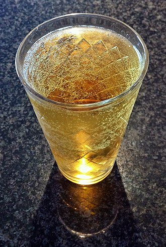 "Cider - Cider, in the traditional hessian ""ribbed"" glass"