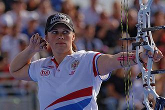 Albina Loginova - Albina Loginova at FITA Archery World Cup in September 2013.