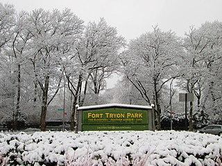 Fort Tryon Park urban park