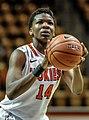 2013 Virginia Tech - Robert Morris - Uju Ugoka foul shot 2.jpg