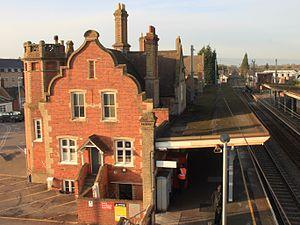 Stowmarket railway station - Stowmarket railway station in 2013