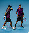 2014-11-12 2014 ATP World Tour Finals Horia Tecua and Jean-Julien Roger 2 by Michael Frey.jpg
