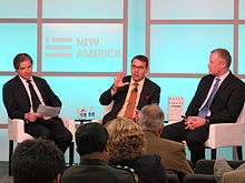 2014-Oct-27 New America Peter Bergen John Nagl Daniel Green.jpg