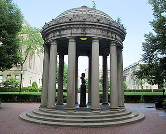 John Howard Van Amringe - The Van Amringe Memorial (1918) on the Morningside Heights campus of Columbia University