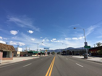 Hawthorne, Nevada - E Street (U.S. Route 95) in downtown Hawthorne