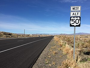 U.S. Route 50 Alternate (Nevada) - View west from the east end of US 50 Alt.