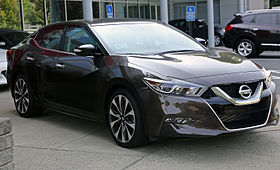 2016 Nissan Maxima SR, Forged Bronze, front right.jpg