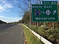 2017-10-06 08 52 59 View south along Interstate 295 (Camden Freeway) at Exit 64 (County Route 535 North, To New Jersey State Route 33 East, Mercerville) in Hamilton Township, Mercer County, New Jersey.jpg