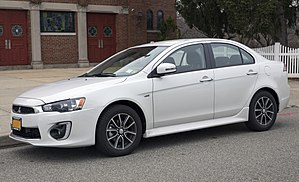 2017 Mitsubishi Lancer 2.4 ES AWC, front left side.jpg