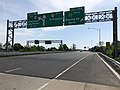 2018-05-26 10 19 22 View south along New Jersey State Route 18 at Exit 15A (Garden State Parkway SOUTH, Wayside Road NORTH) in Tinton Falls, Monmouth County, New Jersey.jpg