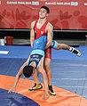 2018-10-12 Wrestling Boys Greco-Roman 71kg at 2018 Summer Youth Olympics – Classification 5th6th Place COL-GUM (Martin Rulsch) 16.jpg