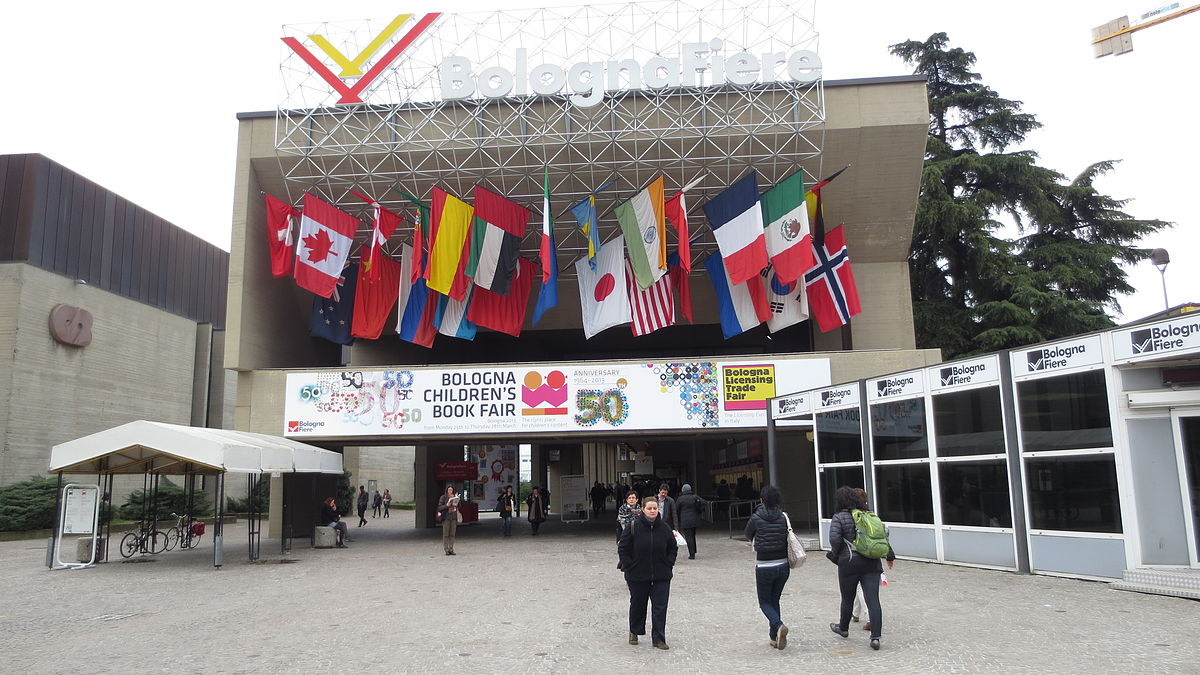 27th March 2013 - Entrance area of the 50th Bologna Children´s Book Fair.JPG