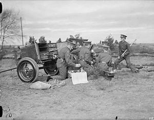 A Battery (The Chestnut Troop) Royal Horse Artillery - Training with a 3.7 inch Mountain Howitzer c. 1938
