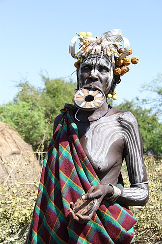 Mursi people - Mursi woman