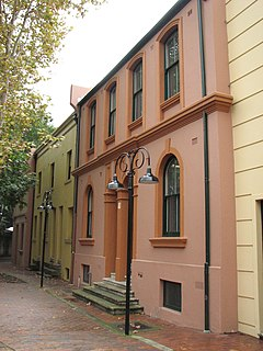 32-36 and 38-40 Gloucester Street facades, The Rocks heritage-listed building facades in Sydney, Australia