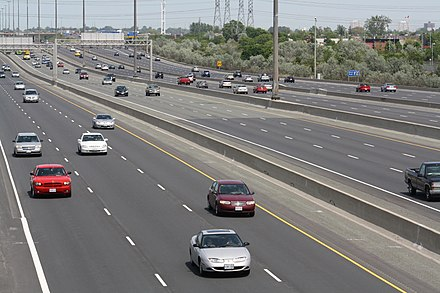 Ontario Highway 401, a route with a collector / express setup 401 3x3x3x3.jpg
