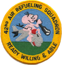 42d Air Refueling Squadron - SAC KC-97 - Emblem